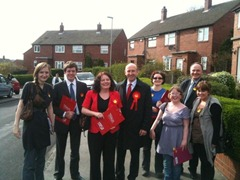 Campaigning Karen and John Healey