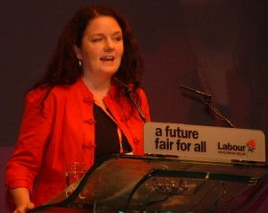 Karen Bruce speaking at Labour Party conference