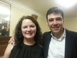 Karen Bruce and Andy Burnham MP