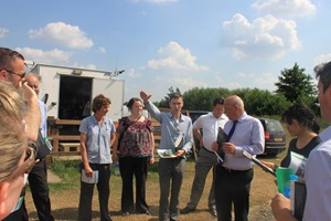 Cllr Karen Bruce, Alec Shelbrooke MP, Ed Cartwright and others with HS2 officials at Swillington Organic Farm