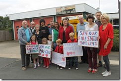 Fire station closure protest
