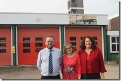 Cllr David Nagle, Angel Kellett and Cllr Karen Bruce photo