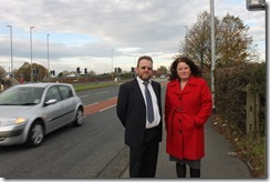 Rothwell councillors David Nagle and Karen Bruce