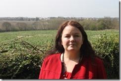 Cllr Karen Bruce at Haigh Side green belt site Rothwell